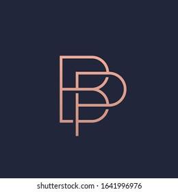 BP monogram logo in gold color.