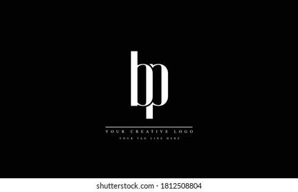 bp pb abstract vector logo monogram template