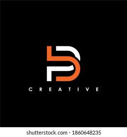 BP, PB Letter Initial Logo Design Template Vector Illustration