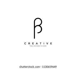 bp pp letter vector logo creative modern trendy unique artistic