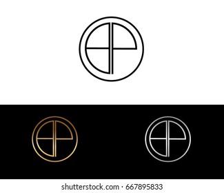 BP round circle shape initial letter logo