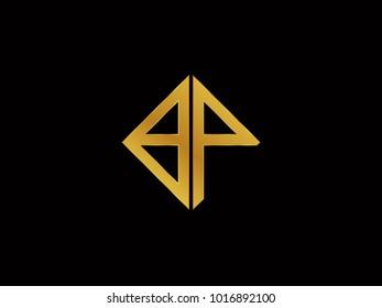 BP square shape Gold color logo