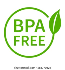 BPA bisphenol A and phthalates free flat badge vector icon for non toxic plastic