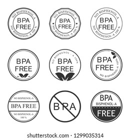 BPA Bisphenol-A free. Flat vector icon for non-toxic plastic. Logo and Badge.