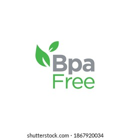 Bpa free badge, logo, icon. Flat vector illustration on white background. BPA bisphenol A and phthalates free flat badge vector icon for non toxic plastic