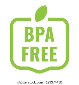 Bpa free badge, logo, icon. Flat vector illustration on white background.