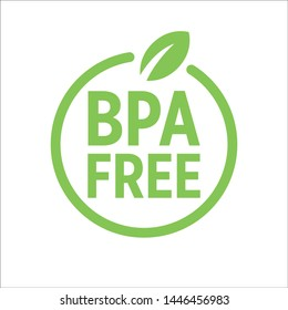 BPA FREE bisphenol A and phthalates free flat badge vector icon for non toxic plastic