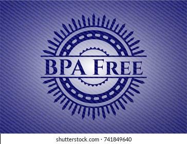 BPA Free with denim texture