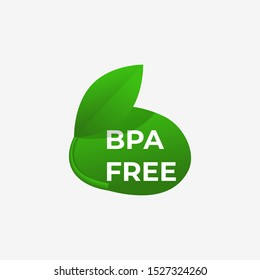 Bpa free icon. No bisphenol badge . Eco bottle .