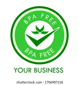BPA FREE logo design template illustration. this is good for your business