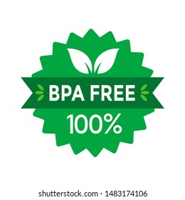 BPA free vector badge template. Suitable for using in labet product.