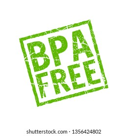BPA free vector icon. Plastic free logo stamp toxic chemical bpa element eco safe icon.