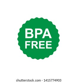BPA  and phthalates free flat badge vector icon for non toxic plastic - Vector
