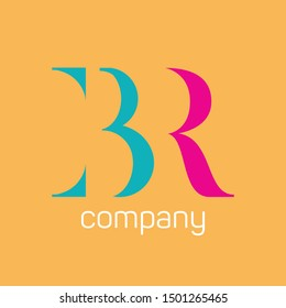 BR company logo design. Monograms letters B and R.