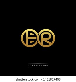 BR initial letter linked circle capital monogram logo modern template