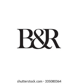 B&R Initial logo. Ampersand monogram logo
