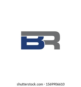 BR Initial logo Capital Letters Blue and Grey Colors