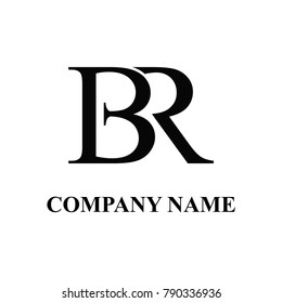 br initial logo design