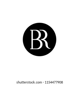 BR Initial Logo designs with circle background