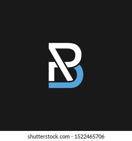 BR letter design for logos and icons