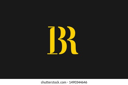 BR Letter Logo Design with Creative Modern Trendy Typography