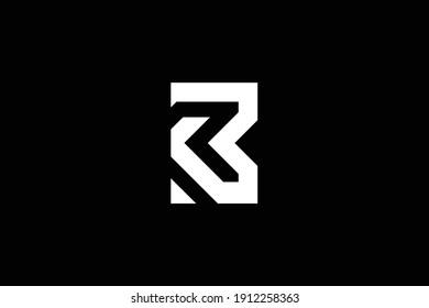 BR letter logo design on luxury background. RB monogram initials letter logo concept. BR icon design. RB elegant and Professional white color letter icon on black background.
