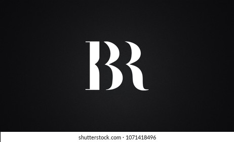 BR Letter Logo Design Template Vector