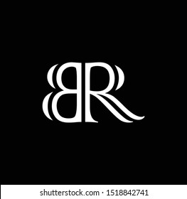 BR letter logo and designs