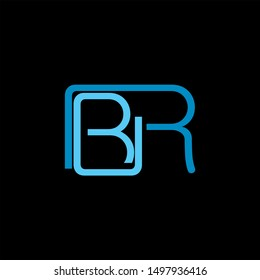 BR Letter monogram with abstrac concept style design