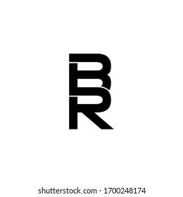 br letter original monogram logo design