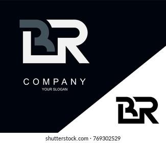BR Logo Letter Design Template Element