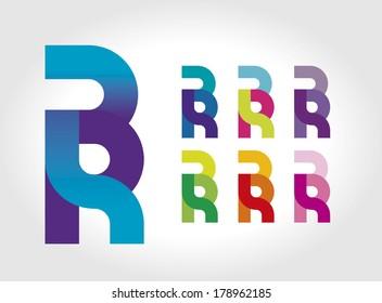 BR monogram typography