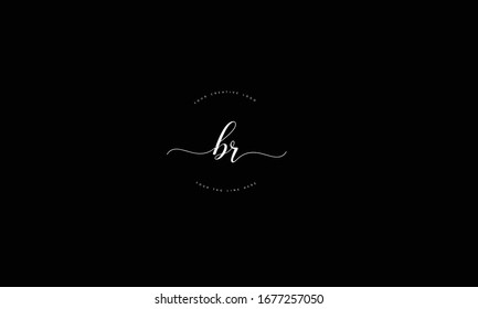 BR RB abstract vector logo monogram template