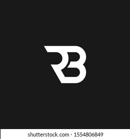 BR or RB font designs for logo and icons