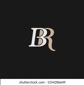 BR or RB letter designs for logo and icons