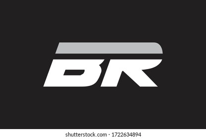 BR or RB Letter Initial Logo Design, Vector Template
