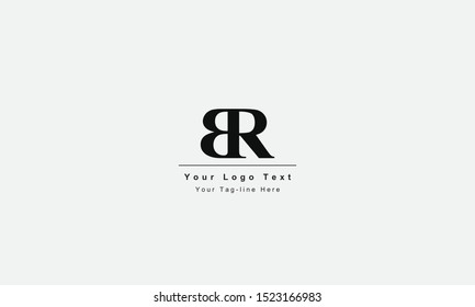 BR or RB letter logo. Unique attractive creative modern initial BR RB B R initial based letter icon logo