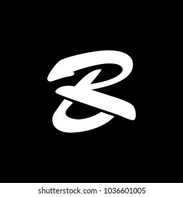 BR or RB logo template.