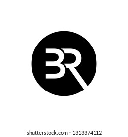 br vector,creative minimal BR logo icon design in vector format with letter B R - Vector