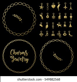 Bracelet with charms pendants vector