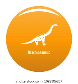 Brachiosaurus icon. Simple illustration of brachiosaurus vector icon for any design orange