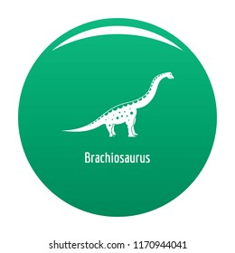 Brachiosaurus icon. Simple illustration of brachiosaurus vector icon for any design green