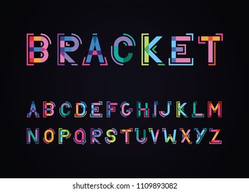 bracket font against a dark background
