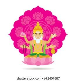 Brahma Hindu God or Deity, a Creator God in Hinduism