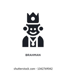 brahman isolated icon. simple element illustration from india concept icons. brahman editable logo sign symbol design on white background. can be use for web and mobile
