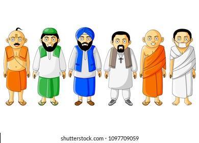 brahmin, muslim, sikh, christian, monk, buddhist, jainism, jain, ascetic, sadhu