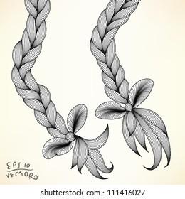 Braid, vector illustration, EPS10 Vector background