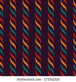 Braids inspired colorful seamless vector pattern