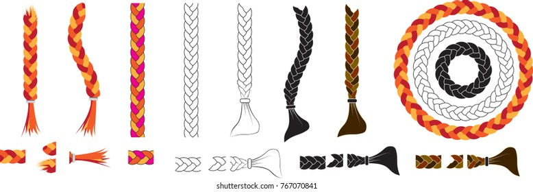 Braids pattern brush. braided rope vector in order to use brushes please follow instructions on youtube  use this link  https://youtu.be/WPzOo_F6feA?t=304