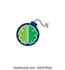 Brain Bomb logo Icon Design